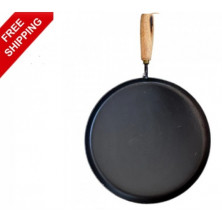 Iron Pan - Dosa / Chapati Pan with Wooden Handle