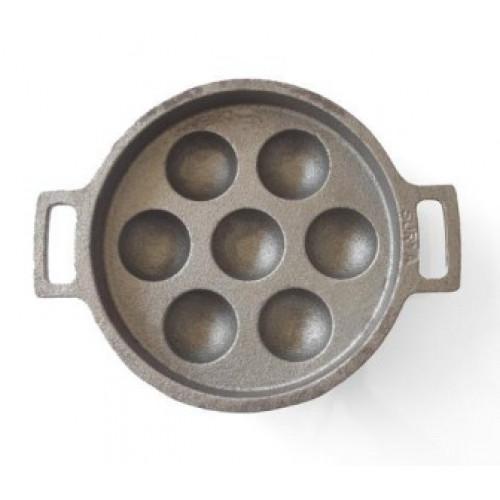 Cast Iron Unniyappa Chatti ( Paniyaram Pan) - Seasoned