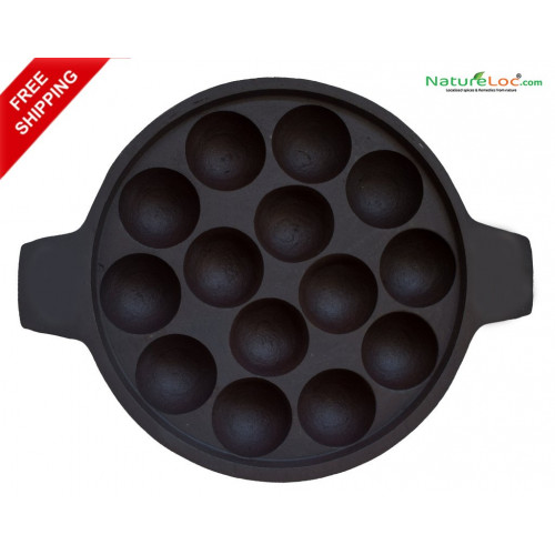 Cast Iron Unniyappa Chatti ( Paniyaram Pan) - Seasoned