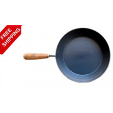 Iron Pan- Wooden Handle