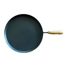 Iron Pan - Dosa / Chapati Pan with Wooden Handle