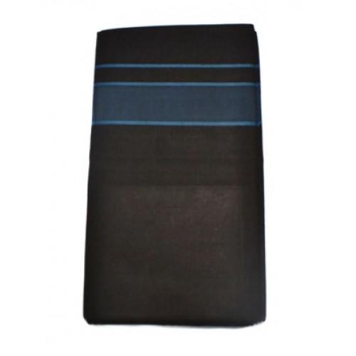 Black Mundu-Kitex Black Colour Cotton Veshties