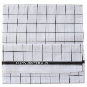 Mundu - White Check Cotton Lungies