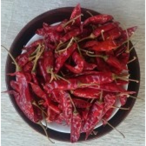 Dried Red Chillies (Vattal Mulaku)