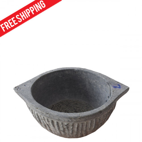 Kalchatti - Stone Cookware - Wide based