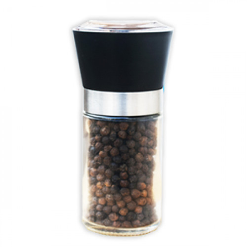 Black Pepper in Hand Grinder Bottle