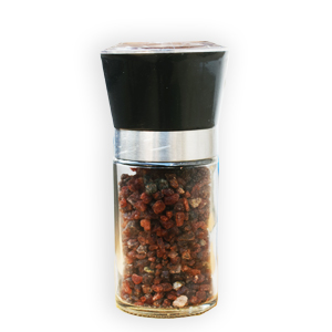Black Salt in Hand Grinder Bottle
