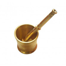 Brass Mortar And Pestle (Idikallu)