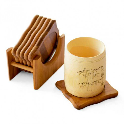 Coaster Set -Bamboo