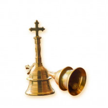Handbell - with cross