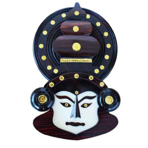 Wooden Home decor - Kathakali Face