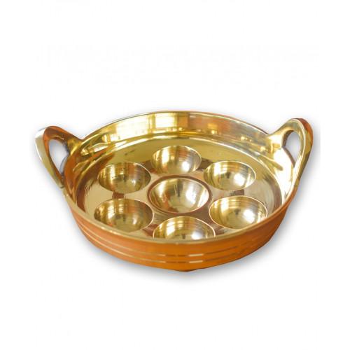 Brass Unniyappa Chatti 7 Pits