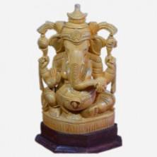 Wooden Ganesha Idol