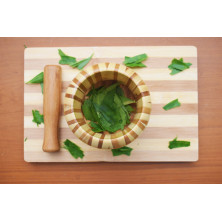Mortar and Pestle-Wooden morter and pestle (crusher)
